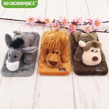 SC44 Luxury Lovely Animal Doll Phone Cases Covers For iPhone 6 6s Plus Hairy Shockproof Protective Back Shell Housing Gift