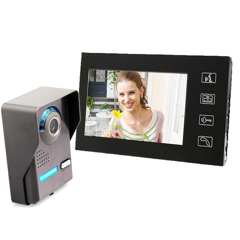 freeshipping 7 Inch touch keypad Video Door Phone Doorbell Intercom Waterproof Rain Cover video door phone for apartment<br><br>Aliexpress
