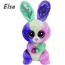 Original Ty Beanie Boos Big Eyes Plush Toy Doll Colorful Rabbit Baby Kids Gift Bunny 10-15 cm WJ159