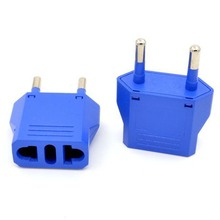10pcs/lot Brand blue Universal Travel Power Plug Adapter European EURO US AU to EU Converter AC Power Plug Adaptor Connector