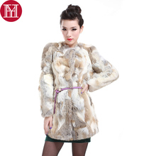 2017 hot sale women rabbit fur coat 100% real genuine rabbit fur jacket long style winter fashion real natural rabbit fur coats