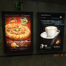 Fast Food Restaurant LED Menu Boards Cafe Indoor Wall Display Advertising Light Box