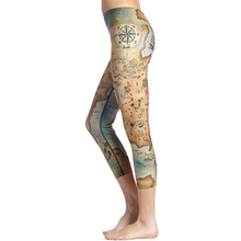 Hot Sale 3D Printed Middle Earth Map Scenery Fitness Leggings Casual Capri Pants Sporting Leggings Women Legins American Apparel