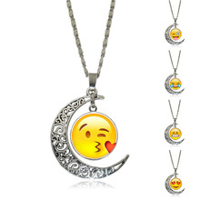 New Hot Fashion Lovely Wild Funny Creative Expression Pendant Necklace Jewelry Accessories Emoji for Women Men Girl Gift Cheap