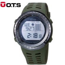 OTS Digital Watch Men Sport LED Professional 50M Waterproof Dive Swim Military Army Outdoor wristwatches Relogio Masculino