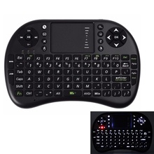 UKB-500 Mini Wireless Keyboard Backlight Backlit Touchpad Air Mouse USB Fly Mouse Remote Control for Android TV Box Notebook PC