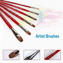 6pcs/set Squirrel Hair Paint Brushes Art Artist Acrylic Painting Set Watercolor Brush Pen Art Supplies for Drawing Paint Brush(China)