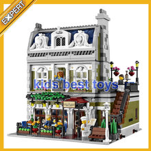2418pcs Parisian Restaurant 15010 Big Building Brick Kit Toys Gift Compatible 10243(China)