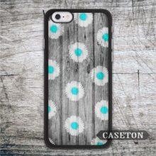 Water Blue Daisy With Wood font b Case b font For font b iPhone b font