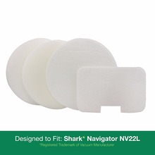 Shark NV22L Foam & Felt Vacuum Filter Kits - Pack of 8. Designed to Replace Shark Part # XF22.