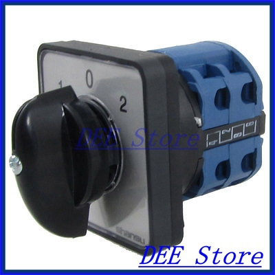 440VAC 240VAC 8 Screw Terminals on-off-on Rotary Selector Combination Switch<br><br>Aliexpress