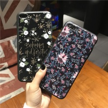 Brand Back Case for Apple iPhone 6 7 s 6s Plus Cute Small Flowers Patterned Phone Cases 4.7 5.5 inch TPU Cover RU UA PL BY