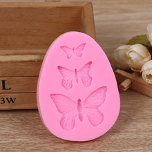 3D Silicone Mold Butterfly Shaped Fondant Cake Mold Soap Mould Bakeware Baking Cooking Tools Sugar Cookie Jelly Pudding Decor