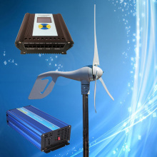 400W 12V Mini Wind Turbine + Wind Solar Hybrid Controller (400W Wind, 150W Solar) + 1500W 12V Pure Sine Wave Inverter(China)