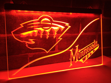 LD536- Minnesota Wild LED Neon Light Sign home decor crafts(China)