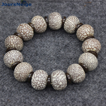 Wholesale natural Bodhi Bracelets Red skin Big blood wire Bodhi Buddha beads hand string Lucky for Men Women Fashion Jewelry(China)