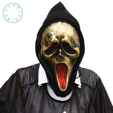 Halloween Ghost Skull Mask Scream Costume Props Mask Creepy Scary Demon Masks Party Festival Full Face Decoration Mask WS07(China)