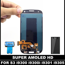 100% Test AMOLED LCD Replacement For Samsung Galaxy SIII S3 i9300 i9300i i9301 i9305 LCD Display Touch Screen Digitizer Assembly(China)