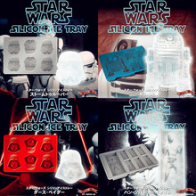 Star Wars Silicone Ice tray for Drinkware Han Solo Cocktails Ice Cube tray jelly chocolate mold DIY cake cook ware kitchen tools