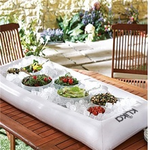 Inflatable Accessories Ice Bar Swan Boias Pool Toys Salad Disk For Buffet Picnic Table Tray Water Bed Pool Swimming Accessories(China)
