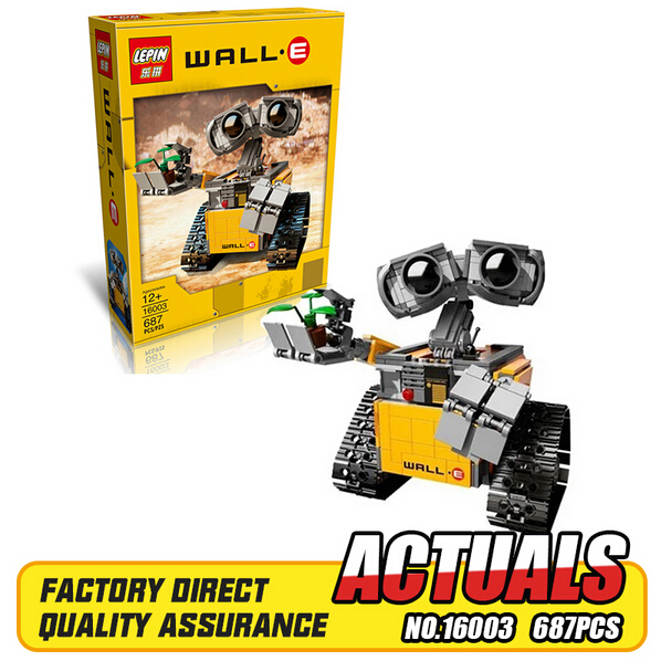 2017 Newest Lepin 16003 687pcs dea Robot WALL E Building Set Kits Blocks Bringuedos Bricks Cute Toy For Children<br><br>Aliexpress