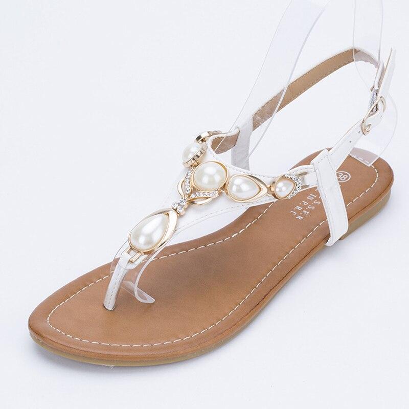 2017 Summer Sandals Rhinestone Bohemia Ladies Summer Sandals Size Toe Rhinestone Gladiator Sandals Women Flip New Female<br><br>Aliexpress