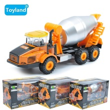 Free shipping Best Gift Classic Alloy Toy Engineering Car Models Dump-car Dump Truck excavate Car Toys For Boy Child(China)
