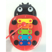 2017 New Educational Kids Baby Toy 5Tones Hand Knock Piano Xylophone Play Wooden Toy