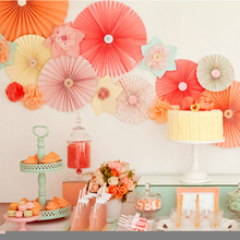 Free Shipping 15pcs/Lot 20cm  Paper Fan Wholesale/Retai Tissue Paper Fan Crafts Party Wedding Home Decorations