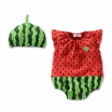Buy New Born Baby Girls Clothes Cotton Water Melon Cos Infant Jumpsuit 2017 Summer Baby Girl Rompers Toddler Boys Clothing for $8.10 in AliExpress store