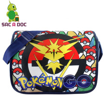 Cartoon Pokemon Go Team Instinct Crossbody Shoulder Bags School Bags Anime Cool Pad Bag Messenger Bags for Children Boys Girls(China)