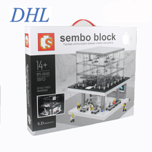 2016 New SD6900 1116Pcs LED City Creatosr Apple Store Model Building Kits Blocks Bricks Compatible Children Toys Gift