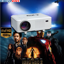 Excelvan CL720D LED Projector 3000 Lumens 1280 x 800 Pixels with Digital TV Interface for Home Entertainment