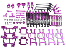 Upgrade Parts Package Purple For HSP RC 1:10 Electric / Nitro Monster Bigfeet Truck 94108 94110 94111