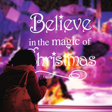 Believe In The Magic Of Christmas Magic Will Happen Inspiration Quote Wall Sticker decal Home decor Wallpaper Wall Mural