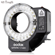 Godox AR400 400W Li-ion Battery LCD Panel Powerful Macro LED Ring Flash Speedlite Video Light Kit photography Ring Flash
