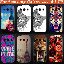 Case For Samsung Galaxy Ace 4 LTE G357fz cartoon colorfuls diy Design Phone Cases Cover For Samsung Galaxy Ace Style LTE G357(China)