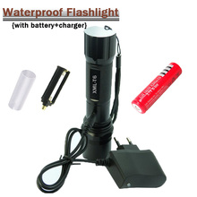 Powerful LED Flashlight CREE XM-T6 Lantern Rechargeable Torch Zoomable Waterproof AAA /18650 Battery Hand Light linterna Camping(China)
