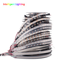 ws2812b 1m/4m/5m 30/60/100/144leds/m 2812 led strip IP30/IP65/IP67 Waterproof Black PCB/White PCB DC5V(China)