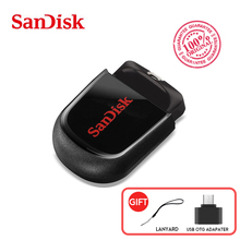 SanDisk usb credit card SDCZ33 flash drive 64GB 32GB high speed 150mb/s USB 2.0 mini pendrive 4GB 8GB 16GB waterproof usb stick(China)