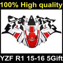 Complete Plastic Body Fairing Kit Set For YAMAHA YZF R1 2015 2016 15 16 Fairing Y15-99