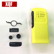 XQF New Yellow Housing Case Front Cover Shell Surface+Dust Cover+Knob For Motorola GP328 GP5150 GP340 Radio Accessories
