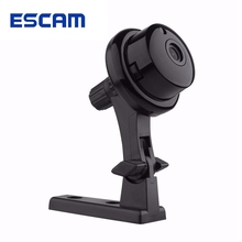 ESCAM Button Q6 Mini 720P IP Night VIsion WiFi Camera Support 128GB Card Motion Detection Audio for Smartphone Tablet Computer(China)