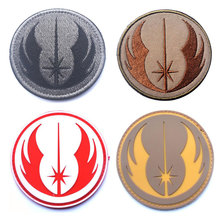 Star Wars Jedi Order Patches 3D Embroidered & PVC Rubber Tactical Military Badges Appliques for Clothing with Hook&Loop(China)