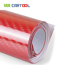 Buy 5D Waterproof Vinyl Wrap Carbon Fiber Bubble Vehicle Sticker Firm Wrapping Decals Exterior & Interior DIY Decoration, Red for $10.99 in AliExpress store