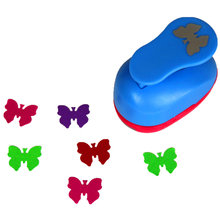 free shipping 1 inch butterfly design eva foam punch paper punches scrapbooking cutter hole punch craft punching for DIY artwork(China)