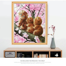 Diamond Mosaic Cartoon Cats Handmade Diamond Painting Cross Stitch Kits Diamond Embroidery Patterns Rhinestones Arts