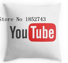 Cool YouTube on white Luxury print Square Pillow cases for12 ''14''16''18'' 20''24''inch free shipping(China)