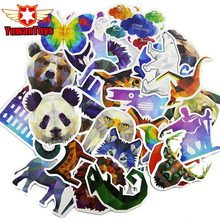 35Pcs Pvc Diamond Animal Stickers For Laptop Motorcycle Notebook Refrigerator Skateboard Mobile Phone Backpack Tables Sticker(China)
