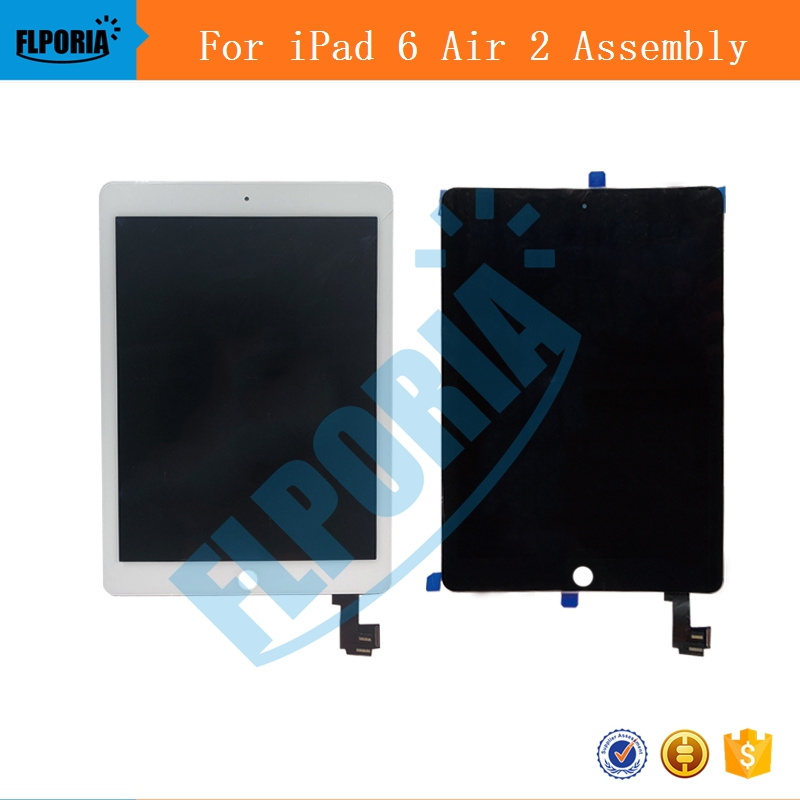 IPHT0222 A1567 A1566 LCD Digitizer Assembly For iPad Air 2 LCD Screen Assembly Display Digitizer Assembly Black White (5b)